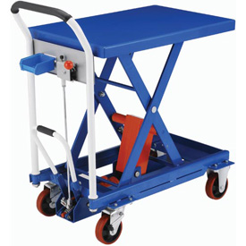Mobile Scissor Lift Tables with Hook-on Bin