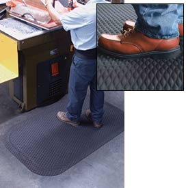 """Hog Heaven Anti Fatigue Mat 5/8"""" Thick 24"""" Wide Black from 3 Ft up to 60 Ft"""