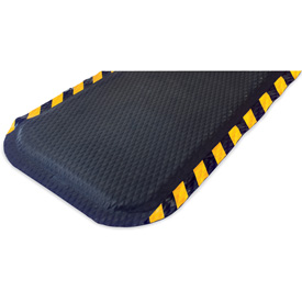 "Hog Heaven Anti Fatigue Mat 5/8"" Thick 46 x 69 Yellow Border"