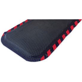 "Hog Heaven Anti Fatigue Mat 7/8"" Thick 24"" W Red Border from 3 Ft up to 60 Ft"