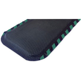"Hog Heaven Anti Fatigue Mat 7/8"" Thick 33"" W Green Border From 3 Ft up to 60 Ft"
