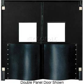 Chase Doors Extra HD Single Panel Traffic Door 4'W x 7'H Black DIS4884-BK