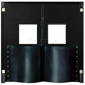 Chase Doors Extra HD Double Panel Traffic Door 5'W x 8'H Black DID6096-BK