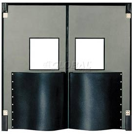 Chase Doors Extra HD Double Panel Traffic Door 8'W x 9'H Metallic Gray DID96108-MG