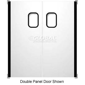 Chase Doors Stainless Steel Single Panel Impact Traffic Door SSTS3684 3'W x 7'H