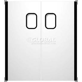 Chase Doors Stainless Steel Double Panel Impact Traffic Door SSTD7284 6'W x 7'H