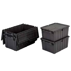 ORBIS Flipak® Distribution Container FP143 - 21-7/8 x 15-1/4 x 9-7/8 Recycled Black - Pkg Qty 6