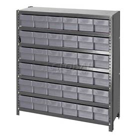 Quantum CL1239-601 Closed Shelving Euro Drawer Unit - 36x12x39 - 36 Euro Drawers Gray