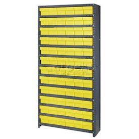 Quantum CL1275-601 Closed Shelving Euro Drawer Unit - 36x12x75 - 72 Euro Drawers Yellow