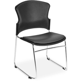 Multiuse Vinyl Seat & Back Stacker - Charcoal - Pkg Qty 4