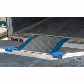 Bluff® SL4848 Spring-Loaded Aluminum Dock Plate 48 x 48 2670 Lb. Cap.