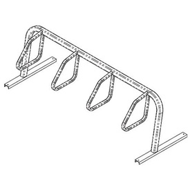 Bike Fixation 4 Bike Square Tube Single Sided Surface Mount Bike Rack