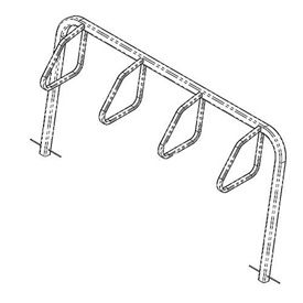 4-Bike City Bicycle Rack, Single Sided, Below Grade Mount