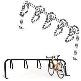 9-Bike City Bicycle Rack, Double Sided, Below Grade Mount