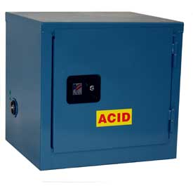 Global™  Stackable Acid Corrosive Cabinet - Manual Close Single Door 6 Gallon - 23x18x22