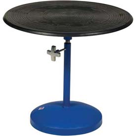 "Vestil Manual 24"" Diameter Pedestal Turntable TT-N-24-PED 21"" to 32""H 300 Lb."
