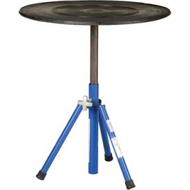 "Vestil Manual 30"" Diameter Pedestal Turntable TT-N-30-PED 20-3/4"" to 31-3/4""H 300 Lb."
