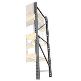"Husky Double Slotted Pallet Rack Upright Frame 120""H x 36""D"