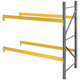 """Husky Rack & Wire L183609650096A Double Slotted Pallet Rack Add-On 96""""W x 36""""D x 96""""H"""
