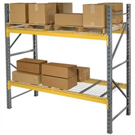 "Husky Rack & Wire L244214455120S Double Slotted Pallet Rack Starter 120""W x 42""D x 144""H"