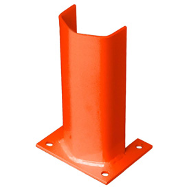 "3/8"" Thick 12"" H Steel Post Protector Orange"