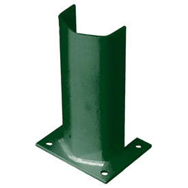 "3/8"" Thick 12"" H Steel Post Protector Green"