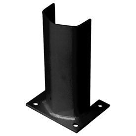 "3/8"" Thick 12"" H Steel Post Protector Black"