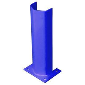 "3/8"" Thick 18"" H Steel Post Protector Blue"