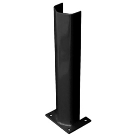 "3/8"" Thick 24"" H Steel Post Protector Black"