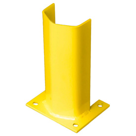 "1/2"" Thick 12"" H Steel Post Protector Yellow"