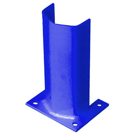 "1/2"" Thick 12"" H Steel Post Protector Blue"