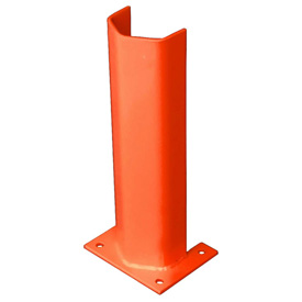 "1/2"" Thick 18"" H Steel Post Protector Orange"
