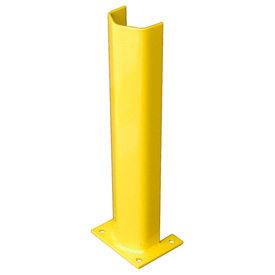 "1/2"" Thick 24"" H Steel Post Protector Yellow"