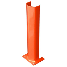 "1/2"" Thick 24"" H Steel Post Protector Orange"