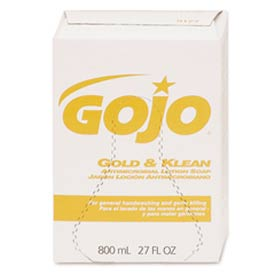 GOJO Antimicrobial Lotion Box Soap 800 mL Refill - 12 Refills/Case 9127 12