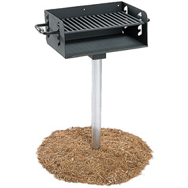 "ADA Rotating Pedestal Outdoor Grill With 3-1/2"" Dia. Post(300 Sq. In. Cooking... by"