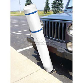 "52""H FlexBollard™ - Asphalt Installation - White Cover/Blue Tapes"