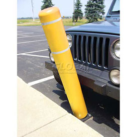 "52""H FlexBollard™ - Natural Ground Installation - Yellow Cover/White Tapes"