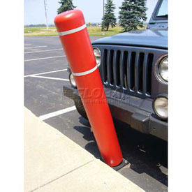 "52""H FlexBollard™ - Natural Ground Installation - Red Cover/White Tapes"