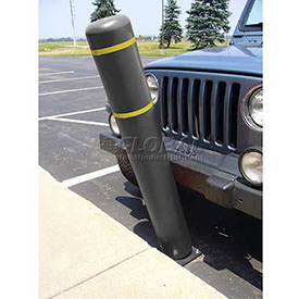 "52""H FlexBollard™ - Natural Ground Installation - Black Cover/Yellow Tapes"