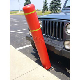 "72""H FlexBollard™ - Asphalt Installation - Red Cover/Yellow Tapes"