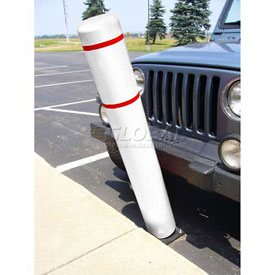 "72""H FlexBollard™ - Asphalt Installation - White Cover/Red Tapes"