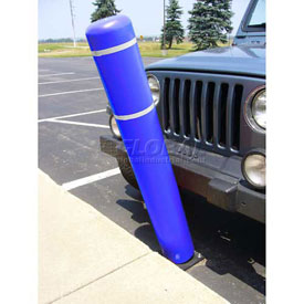 "72""H FlexBollard™ - Asphalt Installation - Blue Cover/White Tapes"