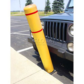 "72""H FlexBollard™ - Natural Ground Installation - Yellow Cover/Red Tapes"