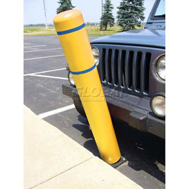 "72""H FlexBollard™ - Natural Ground Installation - Yellow Cover/Blue Tapes"