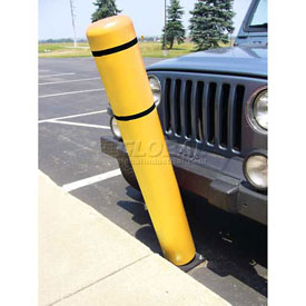"72""H FlexBollard™ - Natural Ground Installation - Yellow Cover/Black Tapes"