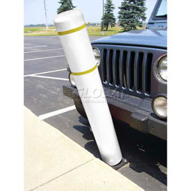 "72""H FlexBollard™ - Natural Ground Installation - White Cover/Yellow Tapes"