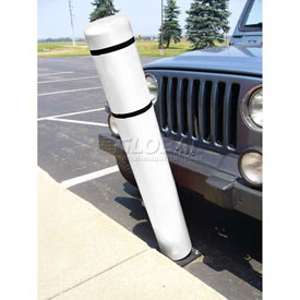 "72""H FlexBollard™ - Natural Ground Installation - White Cover/Black Tapes"