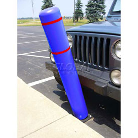 "72""H FlexBollard™ - Natural Ground Installation - Blue Cover/Red Tapes"