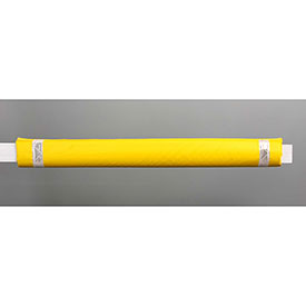 "50""W Soft Nylon Gate Arm Cover - Yellow Cover/White Tapes - Pkg Qty 6"
